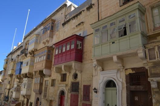 Valetta'nın cumbalı evleri