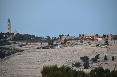 Zeytin Dağı'nda bulunan büyük Yahudi mezarlığı