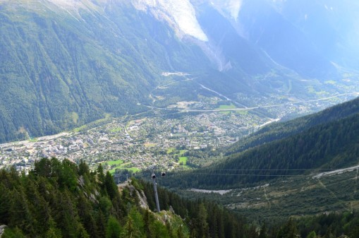 Brevent'ten Chamonix manzaraı