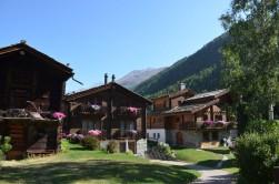 Zermatt'ta evlerin hepsi çok güzel