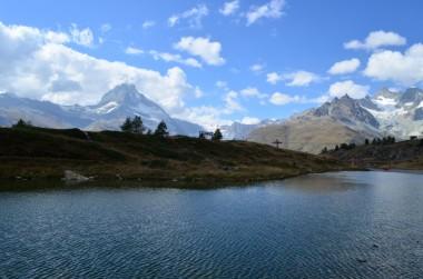 Leisee'den Matterhorn manzarası