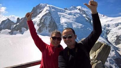 Mont Blanc zirvesi- Kemal'in başparmağının orası:)