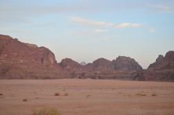 Wadi Rum'dan ilk manzaralar