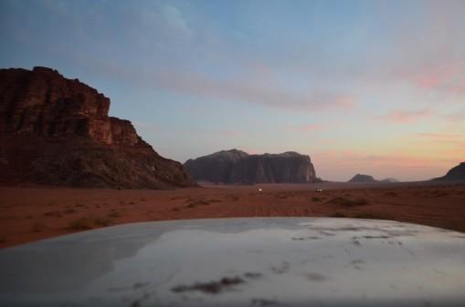 Wadi Rum village'dan kamp yerine giderken