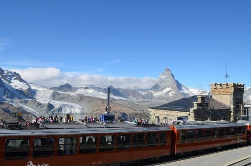 Gornergrat Treni ve Matterhorn