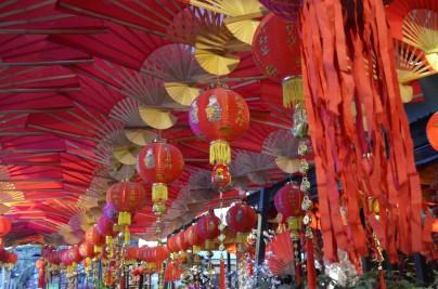 Çin yeni yılı süslemeleri