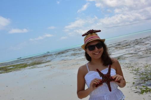 Deniz yıldızlarıyla Birgül:=)