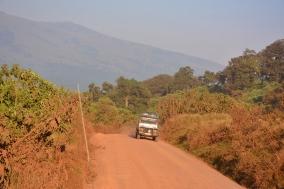 Ngorongoro içerisinde yollar bu şekilde