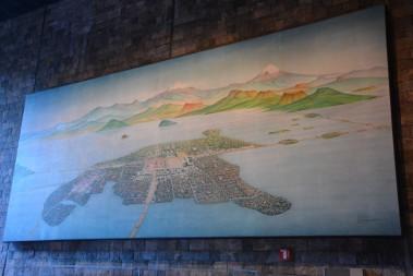 İlk kurulduğunda Mexico şehri ve Texcoco gölü