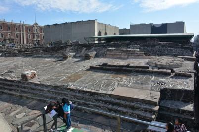 Azteklerden kalan Büyük Tapınak(Templo Mayor)